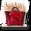 Thumbnail: CABAS MAXI - Mouton gaufré rouge - Cuir véritable