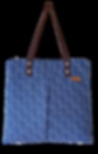 blue shweshwe handbag