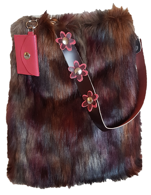 SMILLA - Vineyard Fox - Bucket bag - Eco fur + genuine Leather