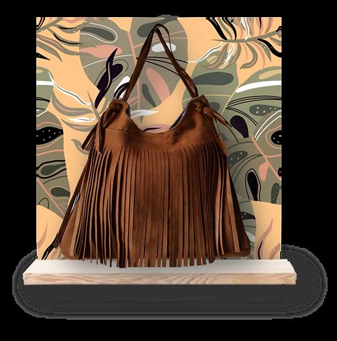 Hobo bag franges - ESPRIT SQUAW - Caramel