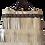 Thumbnail: LES FRANGES - Trapeze handbag - MIDI - beige genuine leather