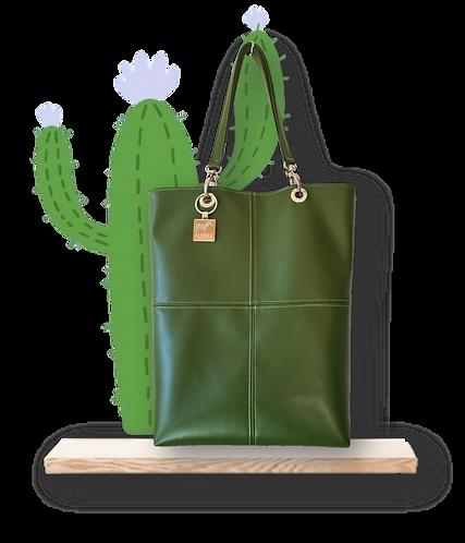 TOTE bag - Peau de Cactus Vert - Cuir vegan