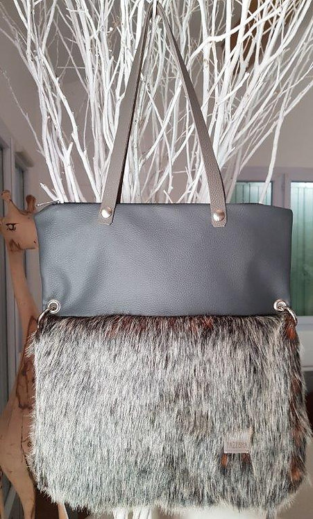 SMILLA - Silver/Orange Fox - Maxi Bag