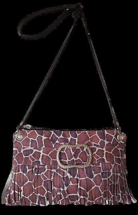 GIRAFFE MINI BAG - suede leather