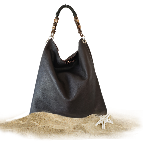 Tote Bag NERISSA - Genuine leather - Brown