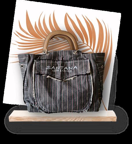 MAXI CABAS - Brown stripes