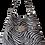 Thumbnail: ZEBRA HOBO BAG - suede leather