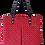 Thumbnail: ROXANNE HANDBAG - SHWESHWE RED/BLACK