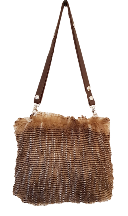 SMILLA - Brown Ostrich - Midi Bag