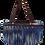 Thumbnail: FJ - Halfmoon bag with denim fringe trim