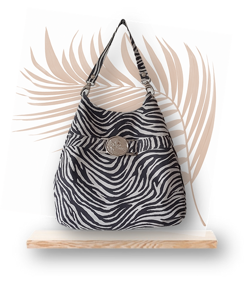 ZEBRA HOBO BAG - suede leather