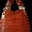 Thumbnail: COLLECTION ÉCORCE - HOBO BAG MAXI - Cinnamon brown - Genuine leather