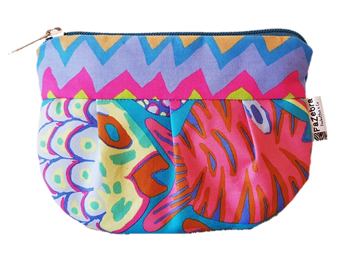 FAT FISH - turquoise pouch