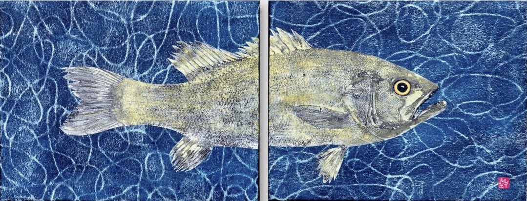 Small Mouth Bass Diptych 2019