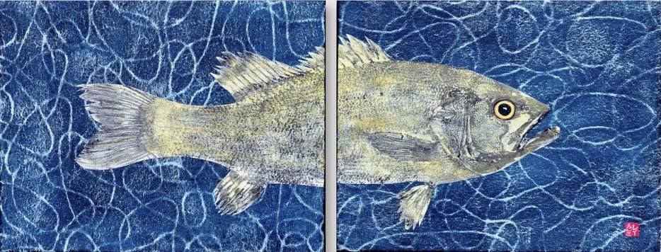 Small Mouth Bass Diptych (SOLD)