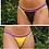 Thumbnail: Tanga dupla face - Color Crochê Marinho/Amarelo