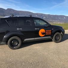 Erste Fahrzeugbeschriftung, danke den diversen Spenden!
