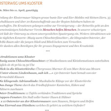 Osterweg ums Kloster - Solothurn
