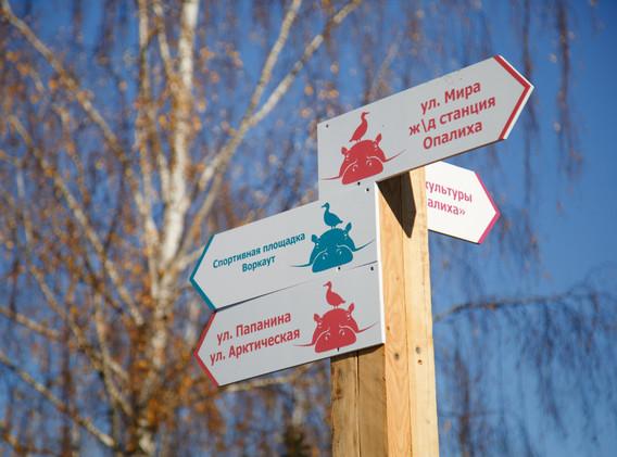 Указатели в парке