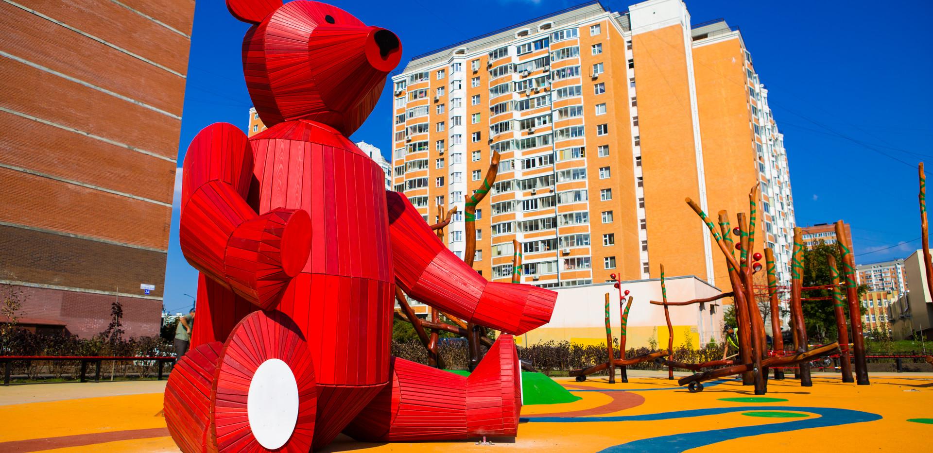 """Детская площадка """"Красный Мишка"""""""
