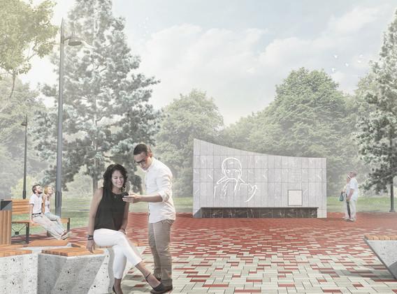 Площадь у памятника павшим землякам в Великой Отчественной войне