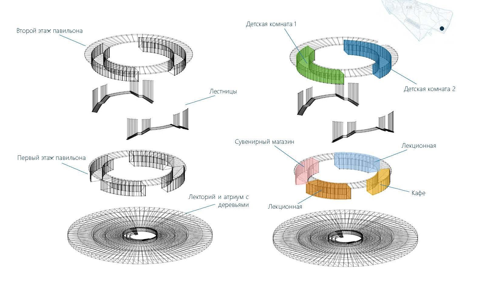 Схема павильона