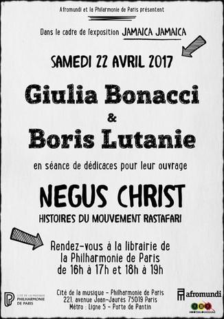 Séance dédicaces avec Giulia Bonacci et Boris Lutanie.