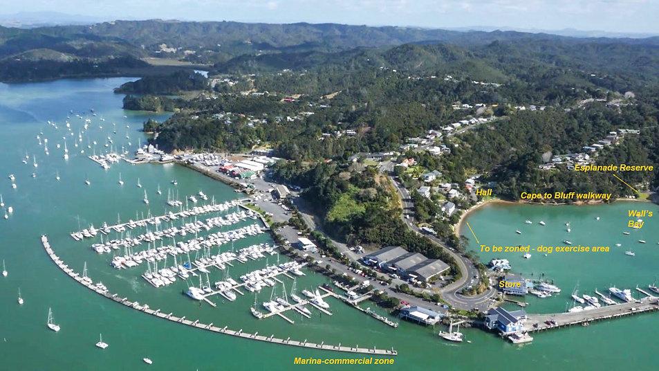 aerial view Opua