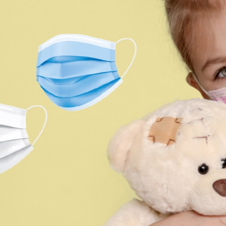 NEU! Farbige Hygienemasken für Kinder