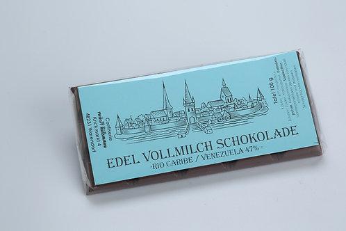 Edel Vollmilch Schokolade, 100 g Tafel