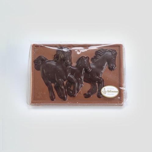 Warendorfer Schokolade Relief Pferde