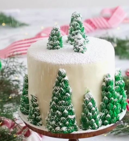 Byob Christmas Tree Cake Decorating Class 201 6 Pm