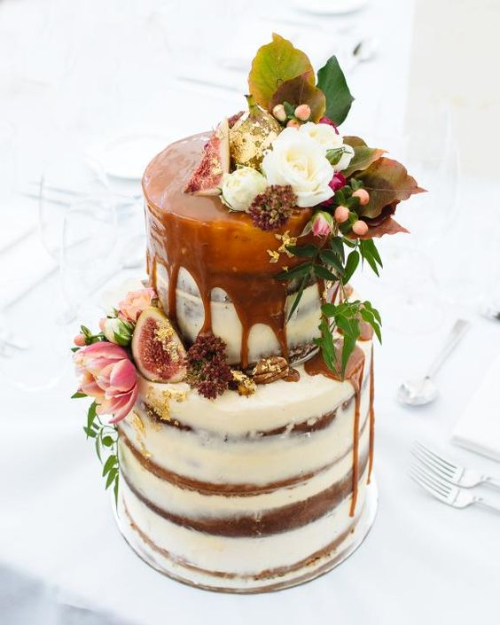 Salted Caramel Drip Wedding Cake