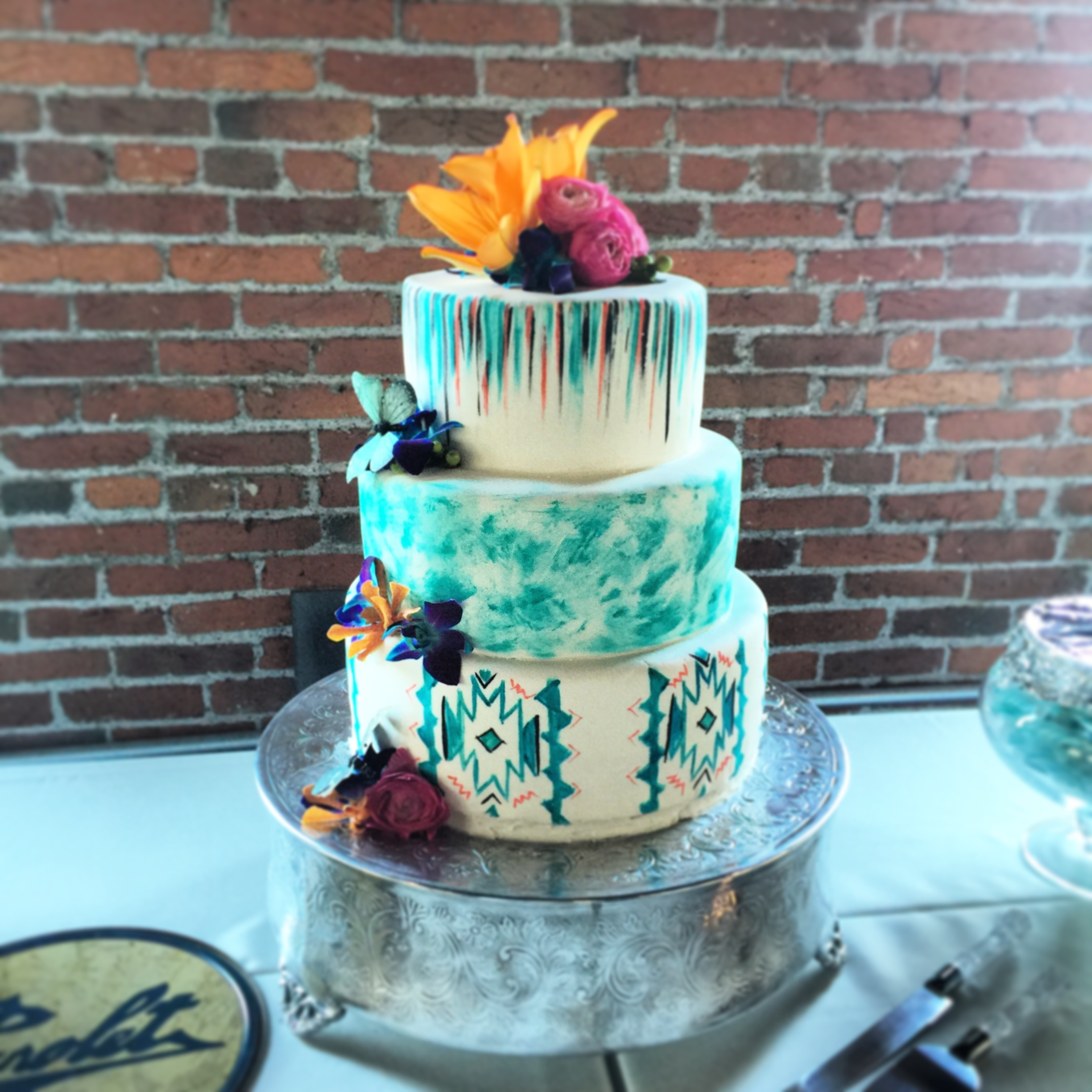 Aztec Wedding Cake