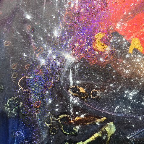 Section of the painting Cosmos