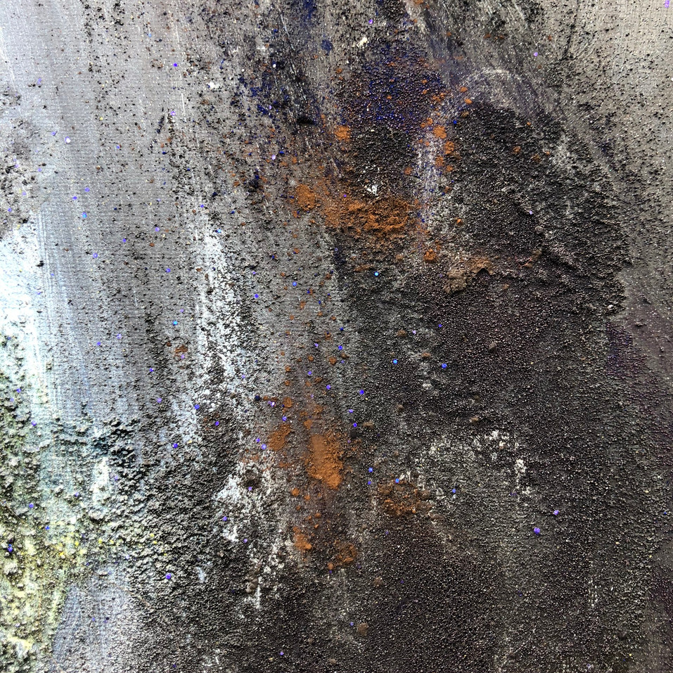Section of the painting Black, Emergence