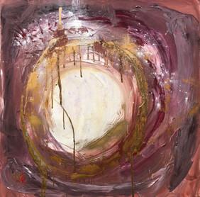 Full size painting Moon magic 100x100cm