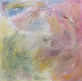 Full size painting Crystal Rainbow 100x100cm 2019