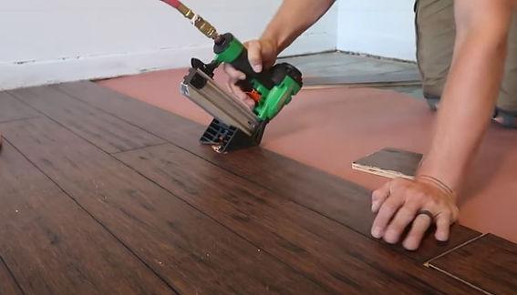 Installing Hard Bamboo Flooring.JPG