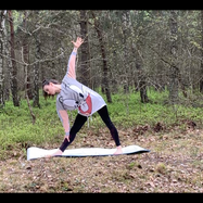 Honorata Perzanowska, Stretching in the forest, Poland, 2020