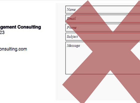 Why a Contact Form is a Bad Look for Membership Organizations
