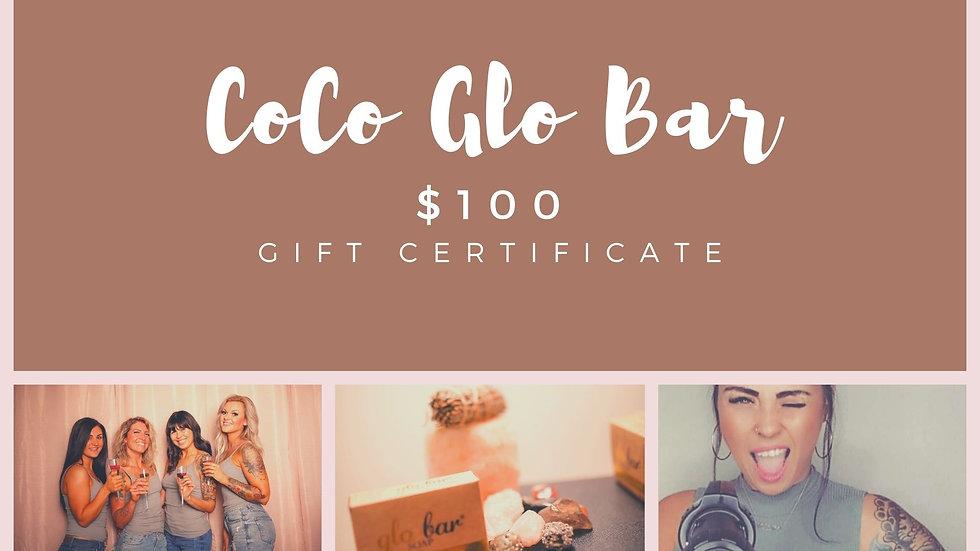 $100 CoCo Glo Gift Card