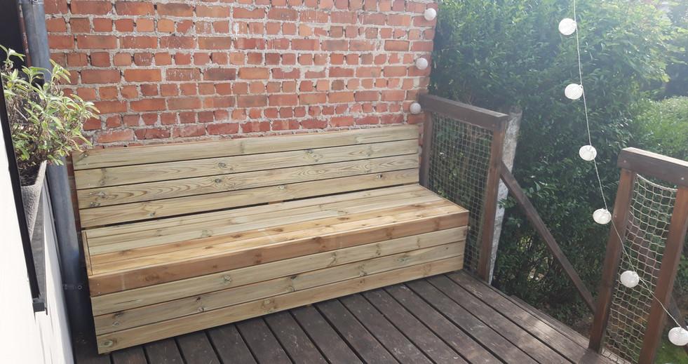 Construction de mobilier de jardin sur mesure