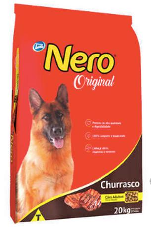 Ração Total Nero Churrasco para Cães Adultos - 20Kg