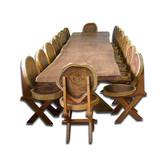 Mesa com Cadeiras Rústica