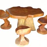 Mesa e Cadeiras Rústicas