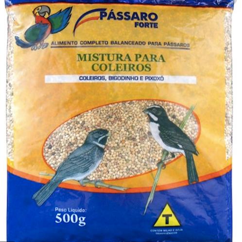 Mistura Pássaro Forte para Coleiros e Exoticos 500g