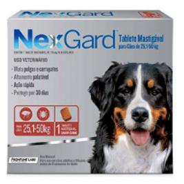 Antipulgas e Carrapatos NexGard para Cães de 25 a 50kg