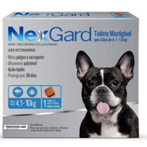 Antipulgas e Carrapatos NexGard para Cães de 4 a 10kg