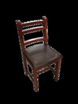 Cadeira fixa Romana com estofado imbuia e tabaco